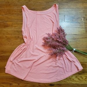Gilligan & O'Malley coral/pink tank top size XL